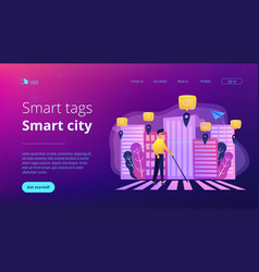 Barrier-free environment and smart city concept vector