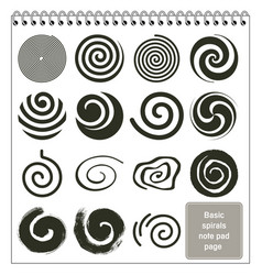 Basic spirals design collection vector