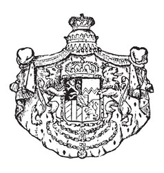 Bavarian coat of arms 15th century were used vector