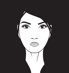 Beautiful woman portrait hand drawn vector image