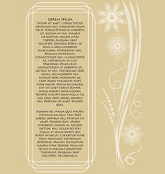Beige low contrasting invitation announcement vector