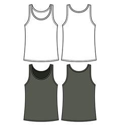 Black and white singlet template vector image