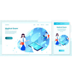 brain health hologram online assistant girl vector image