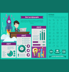 business start-up infographic template vector image