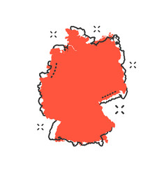 Cartoon germany map icon in comic style germany vector