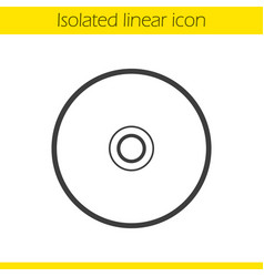 Cd linear icon vector