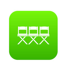 chairs icon digital green vector image