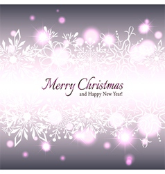 Christmas Star Snowflake Background vector image