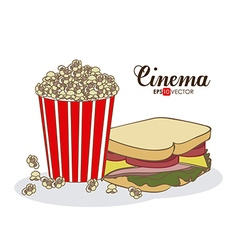 Cinema Food design vector image