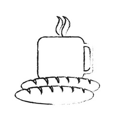 coffee and pastry icon image vector image