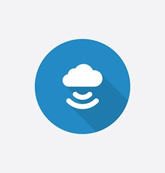 connect cloud Flat Blue Simple Icon with long vector image
