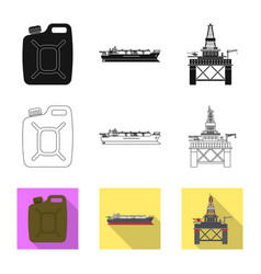Design of oil and gas symbol set of oil vector