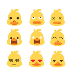 duck face emotion set vector image