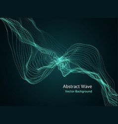 Dynamic particles array 3d abstract music wave vector