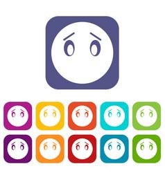 Emoticon icons set vector