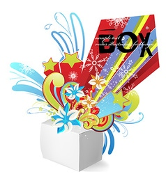 Exploding Box Design vector