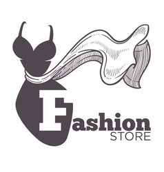 Fashion store or boutique isolated icon female vector