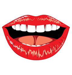 female lips with teeth vector image