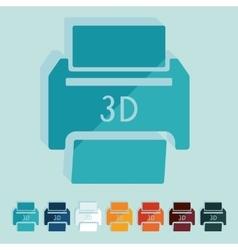 Flat design 3D printer vector image