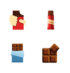 Flat icon sweet set of bitter sweet shaped box vector