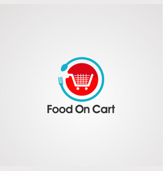 food on cart logo icon template and element vector image