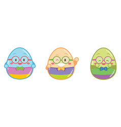 geek easter egg style vector image
