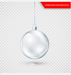 glass transparent christmas decoration xmas vector image