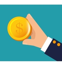 Hand holding money financial business vector