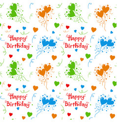 happy birthday colorful pattern background vector image