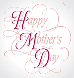 Happy mothers day hand lettering vector