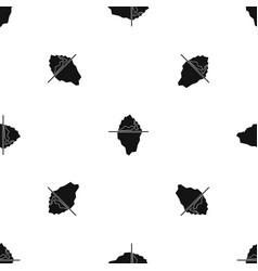 iceberg pattern seamless black vector image