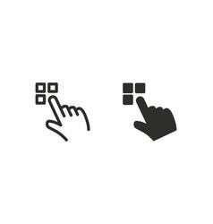 interact icon vector image