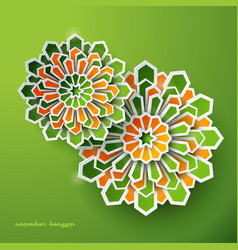 islamic greeting design geometric background vector image