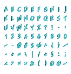 isometric font alphabet isolated on background vector image