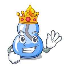 King alcohol burner mascot cartoon vector