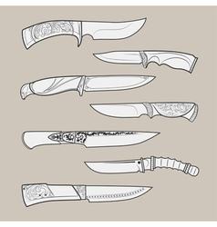 Knives2 vector image