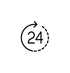 line round the clock service icon vector image