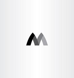 M letter black symbol m sign vector