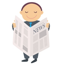 Man with newspaper vector