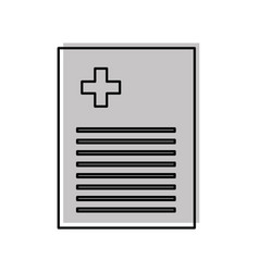 Medical order document icon vector