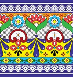 Mexican talavera pottery seamless pattern vector
