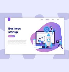 modern flat design concept business startup vector image