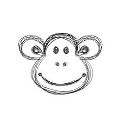 Monkey sketch vector image