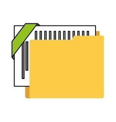 organizer file folder isolated icon vector image