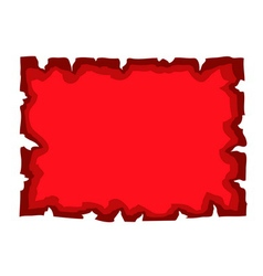 Parchment old paper blank document red vector image