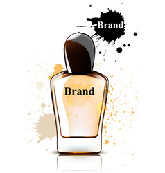 perfume bottle watercolor product vector image