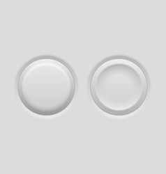 pushed and normal gray interface buttons vector image