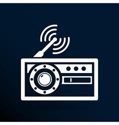 radio icon station symbol fm antenna vector image