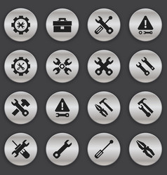 Set of 16 editable repair icons includes symbols vector