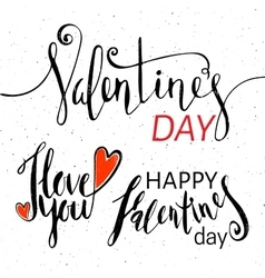Set of lettering for Valentines Day vector